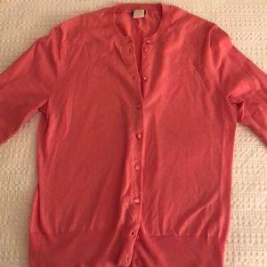 J. Crew light pink cardigan
